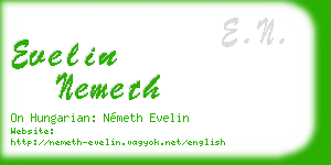 evelin nemeth business card